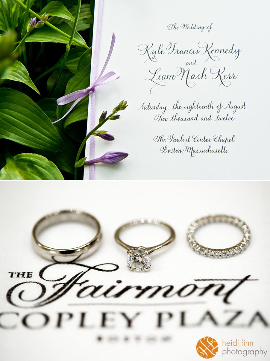 the kennedy wedding, fairmont copley, celebrity wedding